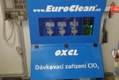 Inštalovaný generátor chlórdioxidu Euroclean OXCL BLUE