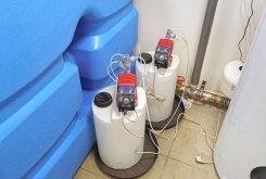 Dávkování chemie AquaDos pro úpravu pH vody